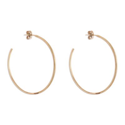 18k Gold Plated Sterling Silver Half-Hoop Earrings from Peru