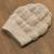 100% baby alpaca hat, 'Mountain Experience in Ivory' - Crocheted 100% Baby Alpaca Hat in Ivory from Peru (image 2b) thumbail