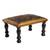 Leather and wood ottoman, 'World of Birds' - Bird-Themed Leather and Wood Ottoman from Peru thumbail