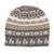 Alpaca blend knit hat, 'Alpaca Mountain' - Off-White Brown and Grey Diamond Motif Alpaca Blend Knit Hat (image 2a) thumbail