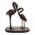 Mahogany wood sculpture, 'Couple of Flamingos' - Hand-Carved Mahogany Wood Flamingo Sculpture from Peru thumbail