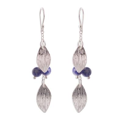 Modern Sodalite Dangle Earrings from Peru