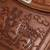 Leather sling shoulder bag, 'Andean Tale' - Hand-Tooled Embossed Andean Scene Brown Leather Shoulder Bag (image 2d) thumbail