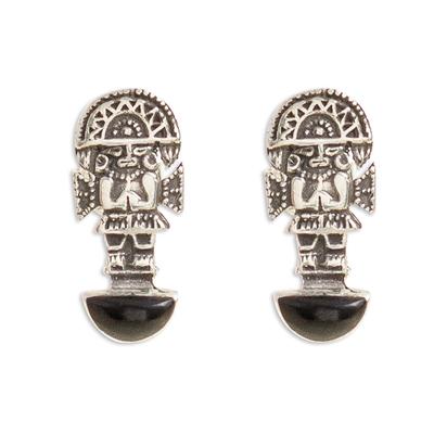 Tumi Ax Onyx Drop Earrings from Peru