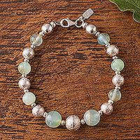 Opal beaded bracelet, 'Opal Elegance'