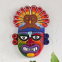 Ceramic mask, 'Mochica God' - Ceramic Mochica God Mask Handcrafted in Peru