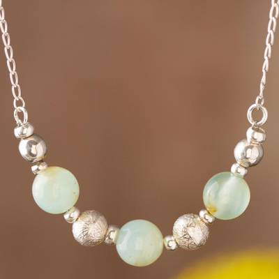 Opal beaded necklace, Round Sophistication