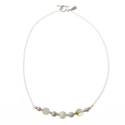 Opal beaded necklace, 'Round Sophistication' - Natural Opal Beaded Necklace from Peru