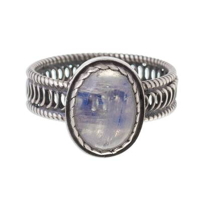 Rainbow Moonstone Cocktail Ring from Peru