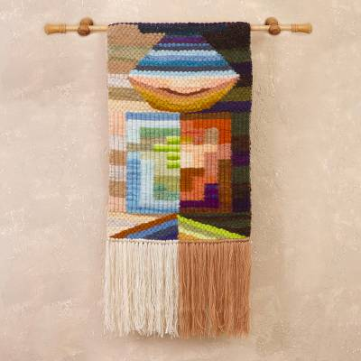 Wool tapestry, 'Multicolored Andes' - Handwoven Abstract Wool Tapestry from Peru