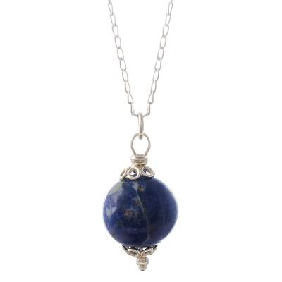 Round Sodalite Pendant Necklace from Peru