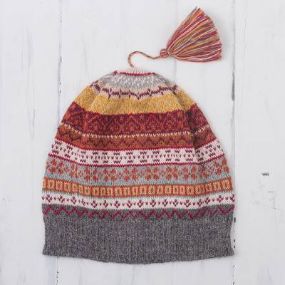 100% alpaca knit hat, Inca Countryside