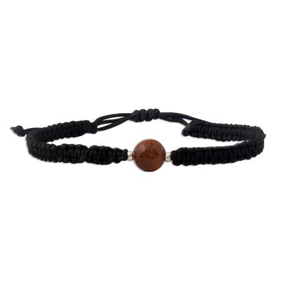 Glass beaded unity bracelet, 'All Together' - Handmade Glass Bead Silver Accents Unity Bracelet from Peru