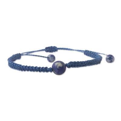 Andean Sodalite & Blue Macrame Unity Bracelet