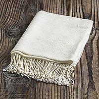 Throw blanket, 'White Andean Textures'