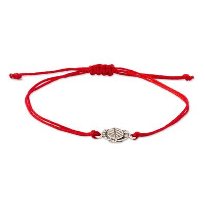 Andean Sterling Silver Kintu Pendant Unity Bracelet