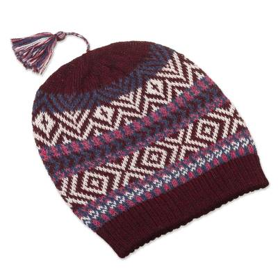 100% Alpaca Knit Hat from Peru
