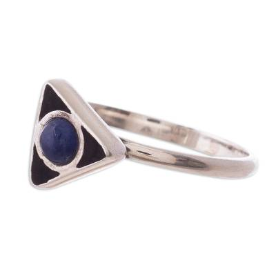 Sodalite and Sterling Silver Ring from Peru
