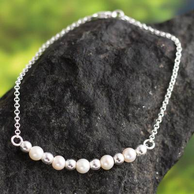 Cultured pearl pendant bracelet, Perfect Transition