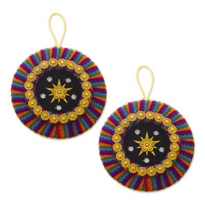 Colorful Handmade Christmas Ornaments from Peru (Pair)
