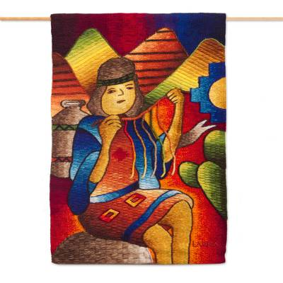 Artisan Crafted Alpaca Blend Tapestry from Peru