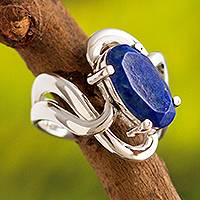 Lapis lazuli cocktail ring, 'Streams of Light'