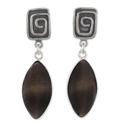 Transparent Obsidian Dangle Earrings