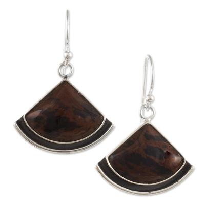 Unique Mahogany Obsidian Dangle Earrings