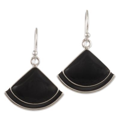 Artisan Made Obsidian Earrings from Peru