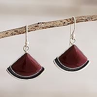 Jasper dangle earrings, 'Expression' - Dangle Earrings with Red Jasper
