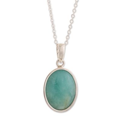 Opal pendant necklace, 'Naturally Beautiful' - Natural Andean Opal Pendant Necklace