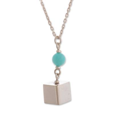 Peruvian Amazonite and Sterling Silver Pendant Necklace