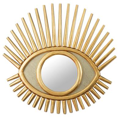 Eye Shaped Wall Accent Mirror