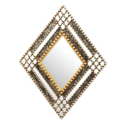 Diamond-Shaped Wall Accent Mirror
