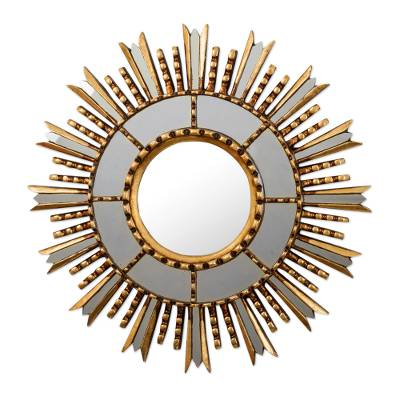 Gilded Wall Accent Mirror