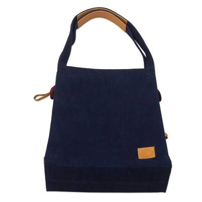 Artisan Crafted Blue Denim Tote Bag