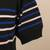 Short-sleeved cotton blend sweater, 'Sweet Life' - Striped Short-Sleeved Sweater (image 2e) thumbail