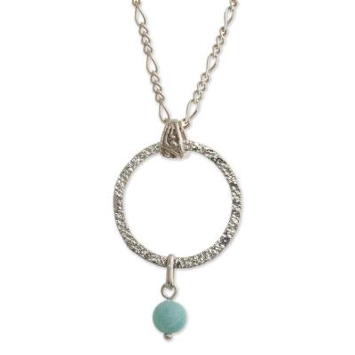 Hand Crafted Amazonite Pendant Necklace