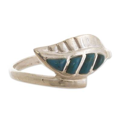 Peruvian Natural Turquoise Chrysocolla Cocktail Ring