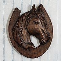 Wood Horse Wall Decor At Novica