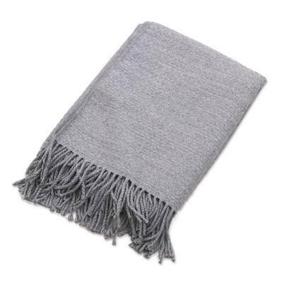 Ash Grey Acrylic Blend Throw Blanket