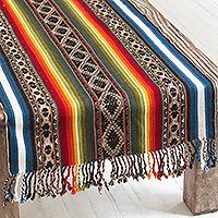 Alpaca-blend table runner, 'Noble Inca' - Multicolored Alpaca-Blend Table Runner