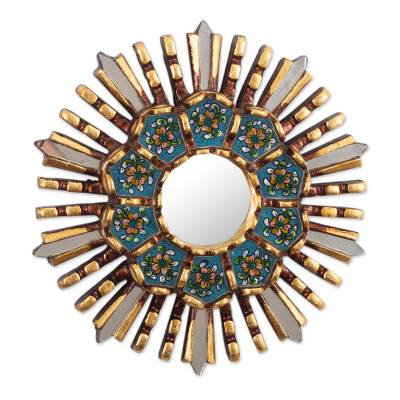Hand Crafted Wall Accent Mirror from Peru