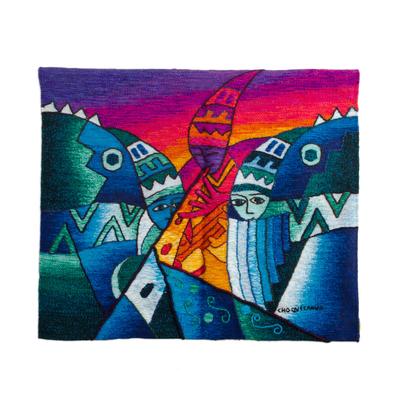 Hand-loomed 100% Alpaca Tapestry from Peru