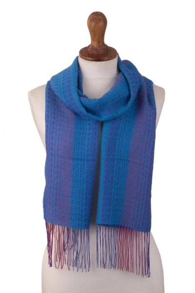 Andean Scarf in Baby Alpaca Blend from Peru