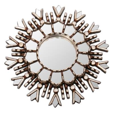 Hand Crafted Silver Wall Mirror