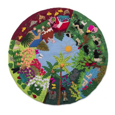 Andean Folk Art Applique Table Mat