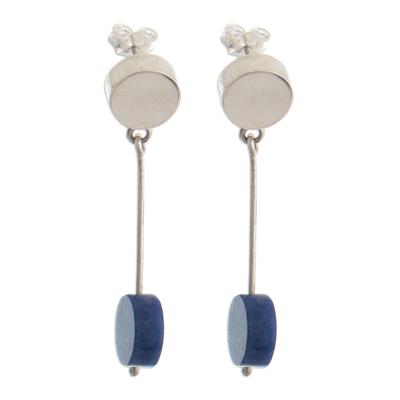 Natural Sodalite Dangle Earrings