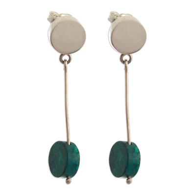 Modern Chrysocolla Earrings