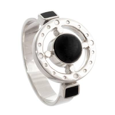 Hand Crafted Obsidian Cocktail Ring